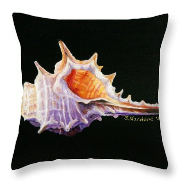 Conch Shell Throw Pillow