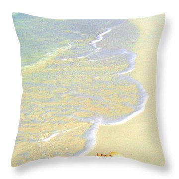 Conch Throw Pillow by Victor Minca