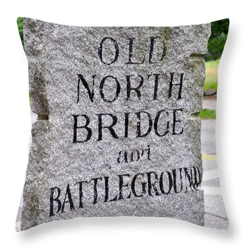 Concord Ma Old North Bridge Marker Throw Pillow