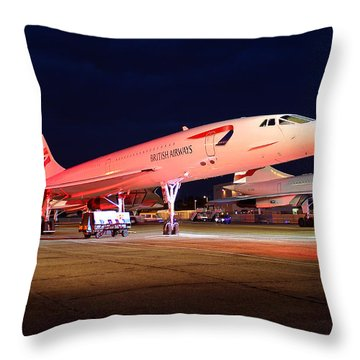 Concorde On Stand Throw Pillow