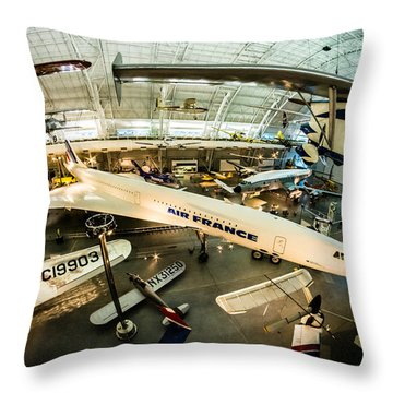 Concorde Throw Pillow by Randy Scherkenbach