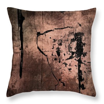 Concrete And Silk Throw Pillow