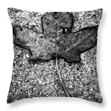 Concrete Leaf Throw Pillow