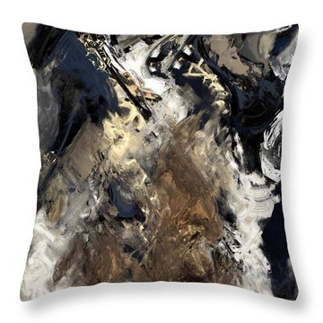Concretion Throw Pillow by Kevin Trow