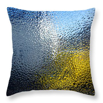 Condensation 03 - White House And Yellow Lorry Throw Pillow by Pete Edmunds