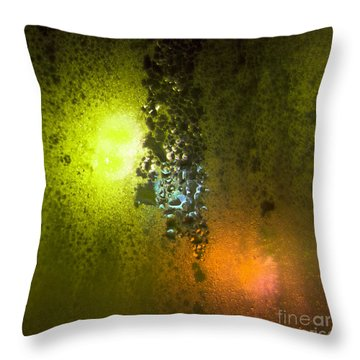 Condensation 08 - Saga - Citrus Throw Pillow by Pete Edmunds