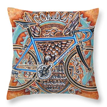 Throw Pillow featuring the painting Condor Baracchi by Mark Howard Jones