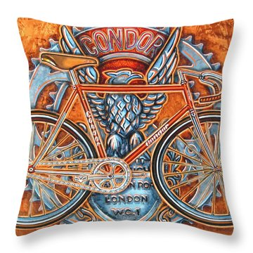 Throw Pillow featuring the painting Condor Fixed by Mark Howard Jones