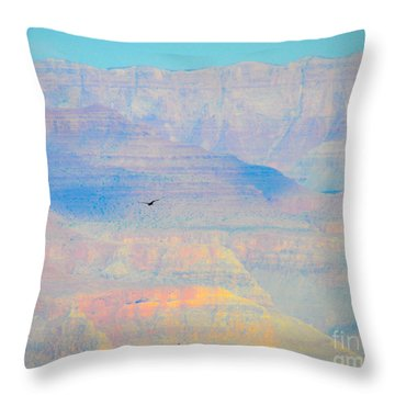 Condor Series A Throw Pillow by Cheryl McClure