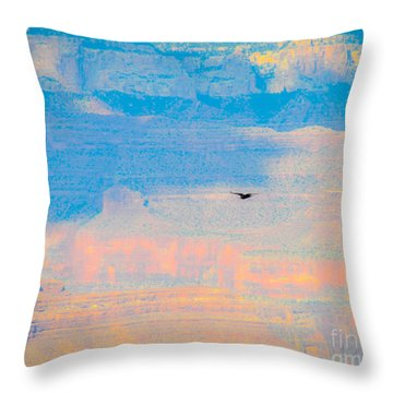 Condor Series E Throw Pillow by Cheryl McClure
