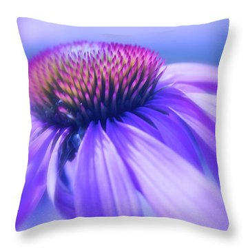 Cone Flower In Pastels  Throw Pillow by Linda Bianic