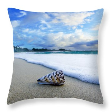 On The Beach Throw Pillows