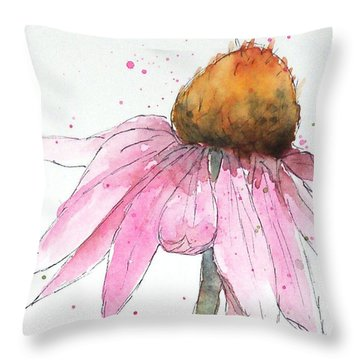 Coneflower 1 Throw Pillow