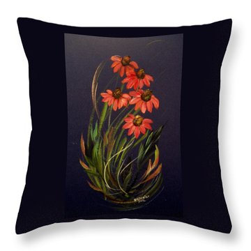 Coneflower Throw Pillow by Dorothy Maier