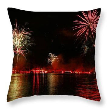 Conesus Ring Of Fire Throw Pillow by Richard Engelbrecht