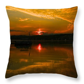 Conesus Sunrise Throw Pillow by Richard Engelbrecht