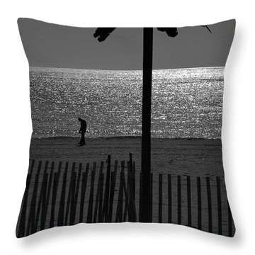Coney Island 1 Throw Pillow by Steven Richman