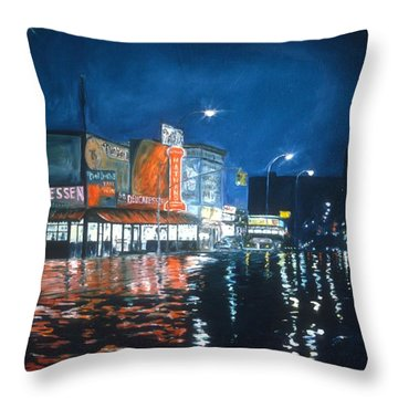 Coney Island Throw Pillow by Anthony Butera