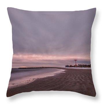 Coney Island Bound Throw Pillow