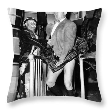 Coney Island Fun House Throw Pillow by Granger