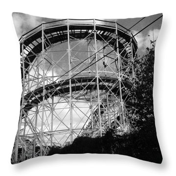 Coney Island Roller Coaster Throw Pillow