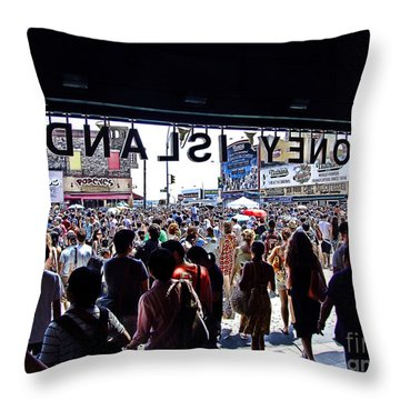 Cyclone Rollercoaster Throw Pillows