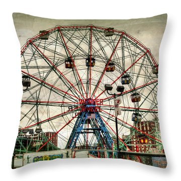 Coney Island Wonder Wheel  Throw Pillow