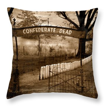 Confederate Dead Throw Pillow