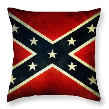 Confederate Flag Throw Pillow