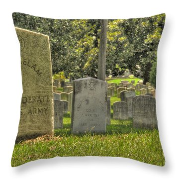 Confederate Graves Throw Pillow