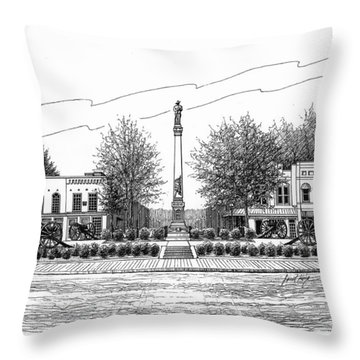Confederate Monument In Franklin Tn Throw Pillow