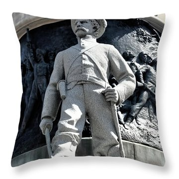 Confederate Soldier II Alabama State Capitol Throw Pillow by Lesa Fine