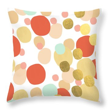 Confetti- Abstract Art Throw Pillow
