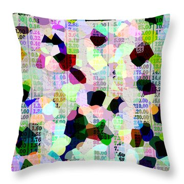 Throw Pillow featuring the photograph Confetti Table by Ecinja Art Works
