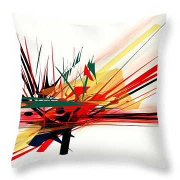 Throw Pillow featuring the painting Conflict 1 by Andrew Penman