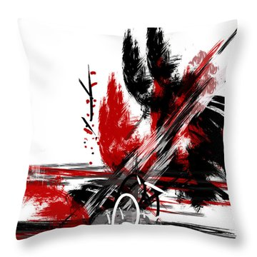 Throw Pillow featuring the painting Conflict 2 by Andrew Penman