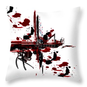 Throw Pillow featuring the painting Conflict3 by Andrew Penman