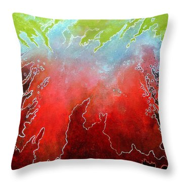 Throw Pillow featuring the painting Conflicting Emotions by Jim Whalen