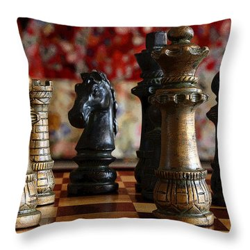 Confrontation Throw Pillow