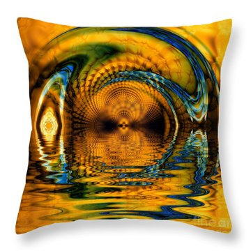 Confusion Of Distortion  Throw Pillow by Elizabeth McTaggart