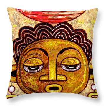 Congalese Face 1 Throw Pillow