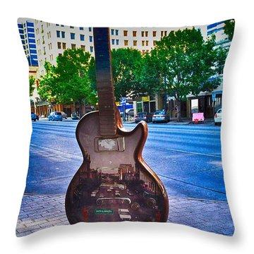 Congress Avenue Sixth String Throw Pillow