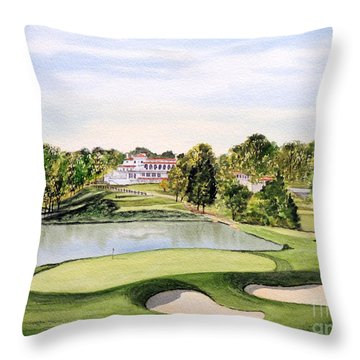Congressional Golf Course 10th Hole Throw Pillow by Bill Holkham