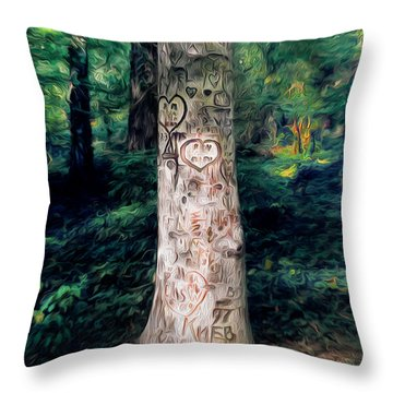 Congressional Woods Throw Pillow
