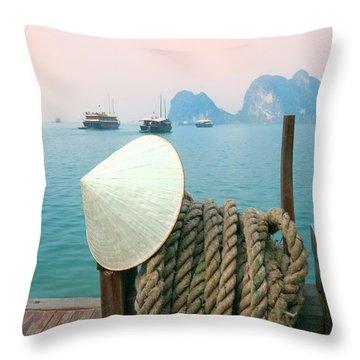Ha Long Bay Throw Pillows