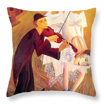 Conjured Melodies Throw Pillow