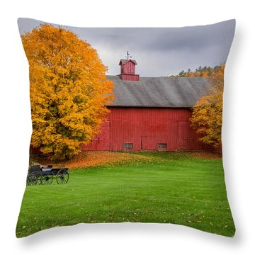 Connecticut Autumn Throw Pillow by Bill Wakeley
