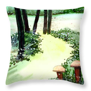 Connection Throw Pillow by Anil Nene