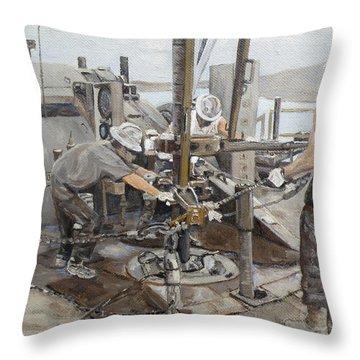 Oilfield Throw Pillows