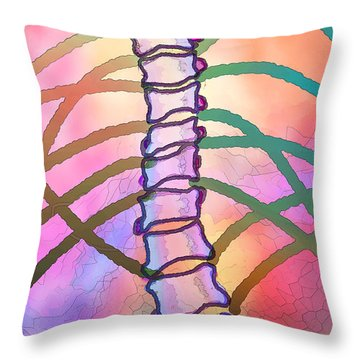 Connections  Throw Pillow by Ginny Schmidt